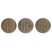 Moedas Antigas - Série Completa 100 Réis 1936/1937/1938