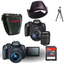 Camera Canon T5i 700d 18-135mm+ Bolsa+ Tripé+ 32gb+parasol