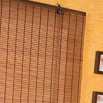 Persiana Cortina De Bambu Roller 100 X 160 Cm Mista Café