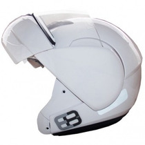 Capacete Robocop Escamoteável Articulado Ebf E8 Branco
