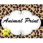 Kit Festa Provençal Animal Print Onça Arte Cartões Convites