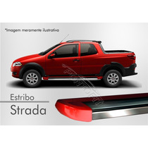 Estribo Plataforma - Fiat Strada (todos) - Vermelho Alpine