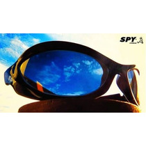 Óculos De Sol Spy Original - Mod Crato 42 Preto - Lente Azul