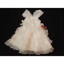 Vestido Infantil Festa/princesa/florista/batizado Off White