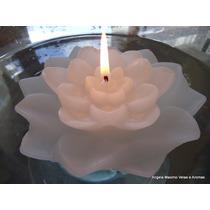 Flor De Lotus, 10 Velas P/ Piscina, Chama Alta - 10hs Cada