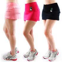 Short Saia Tapa Bumbum Cintura Alta Babado Panicat Fitness