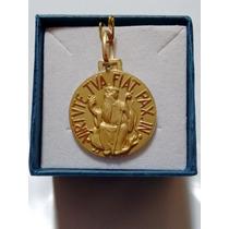 Medalha Pingente São Bento Em Ouro 18k 2 Cm Com Certificado