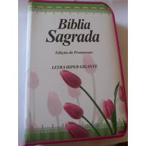 Bíblia Sagrada Edição De Promessas Letra Hipergigante Zíper