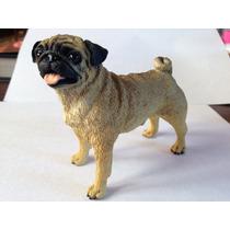 Pug Abricot Creme Escultura Miniaturas Cães Raça Toymport