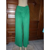 Calça Pantalona Em Viscolycra Cintura Alta