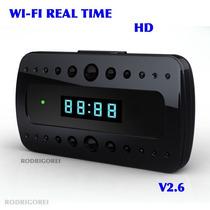 Relogio -wi-fi- C/camera Ip Visao Noturna Tempo Real Spy