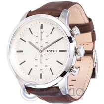 Relógio Fossil Fs4865 Couro Marrom Novo Original Frete Grati