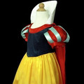 Vestido Fantasia Luxo Branca De Neve Disney - Pronta Entrega