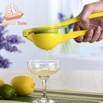 Espremedor De Limão Manual Em Aço Inox 22 Cm Amarelo E Verde