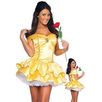 Fantasia Princesa Bela E A Fera Pronta Entrega