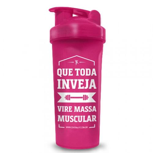 Coqueteleira Rosa Massa Muscular