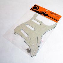Escudo Paisley Sparkle Branco P/ Guitarra Strato Sss Dolphin