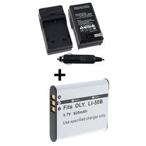 Bateria Li-50b+carregador P/ Olympus Tg-820,tg-830 São Paulo
