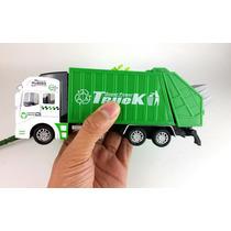 Miniatura Caminhão Scania 124 P420 Lixo Metal 1/32 + Cesto