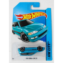 1990 Honda Civic Invertido Na Cartela Hot Wheels 2014