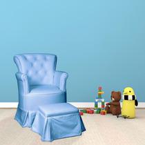 Poltrona De Amamentação Com Balanço Isadora Design Azul
