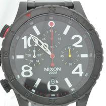 Relógio Nixon The 48-20 Preto Com Fundo Preto E Detalhes Ver