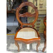 Cadeira Sem Braço Antiga Madeira Palhinha Indiana Medalhao