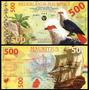 Nederlands Mauritius 500 Gulden 2016 Polímero * Q J *