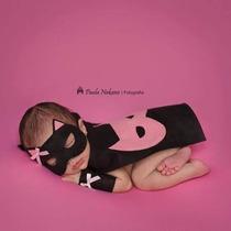 Fantasia Mulher Gato Fotografia Newborn E Bebês