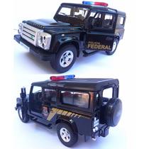 Carrinho Defender Polícia Federa Land Rover Miniatura Ferrro
