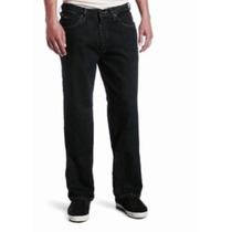 Lee Relaxed Straight Leg Calça Jeans Tam 50 Masc Black