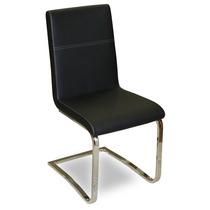 Cadeira Estofada Zurique Em Aço Inox Marrom Cinza Preto