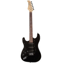 Guitarra Strato Canhota St111lh Preta Abk Waldman 3797