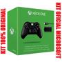 Controle Sem Fio Wireless Original Xbox One + Kit Carregador