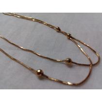 Cordão Bolinhas - Ouro 18k - Maravilhoso 3.2 Gramas 50cm