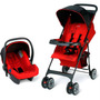 Travel System Chicago Word Red