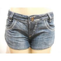 Shorts Jeans Curto Detalhe Lateral, Tam 42 Ótimo Estado