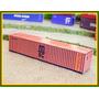 2 Unidades - Containers 40 Pés Msc Em Papel Cartão Ho 1:87