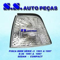 Pisca Bmw E 36 Sedan Compact 4 Portas Cristal 91 97 Serie 3