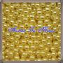 500 Pérolas 3mm Amarela Em Plástico Abs C/furo