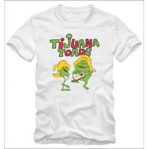 Tijuana Toads Toro Pancho Camiseta Trad T-shirt Algodão 30.1