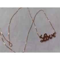 Cordão Love - Ouro 18k - Maravilhoso 1,5 Gramas