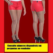 Short Sawary Couro Sintético Ecológico (p.u.) Feminino.