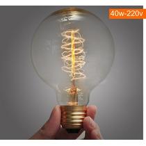 Lâmpada Vintage / Retro - T. Edison - G80-40w-220v - Espiral
