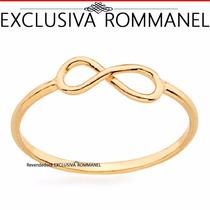 Rommanel Anel Skinny Falange Infinito Folheado Ouro 511815
