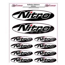 Adesivo Refletivo Moto Bau Roda Tank Capacete Carro Nitro M1