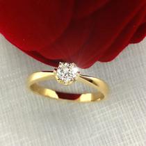 Anel Diamante 23 Cts Ouro 18k Maciço Solitario Gema Natural