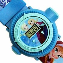 Relógio Infantil Pul. Disney Frozen Original Projetor Imagem