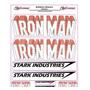 Adesivo Refletivo Moto Capacete Carro Iron Man M1 Fretgrátis