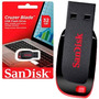 Pen Drive Sandisk 32gb Cruzer Blade Lacrado Original Z50